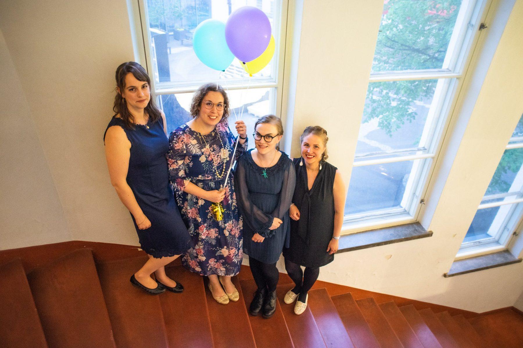 Kuvassa vasemmalta: Elina, Jutta, Anna ja Susanna